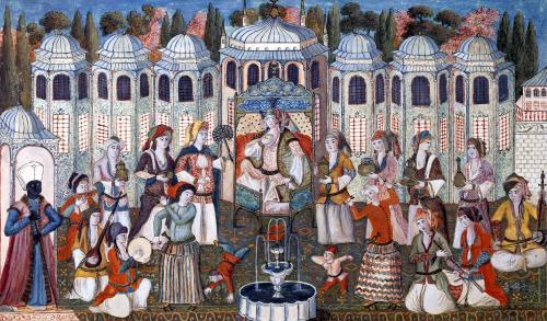Feast for the Valide Sultana with the presence of Madame Girardin by Turkish School