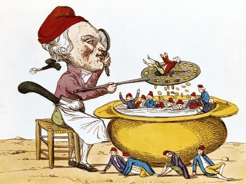 The Purifying Pot of the Jacobins 1793 by Benoit Louis Henriquez