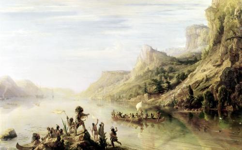 Jacques Cartier discovering the St. Lawrence River 1847 by Jean Antoine Theodore Gudin