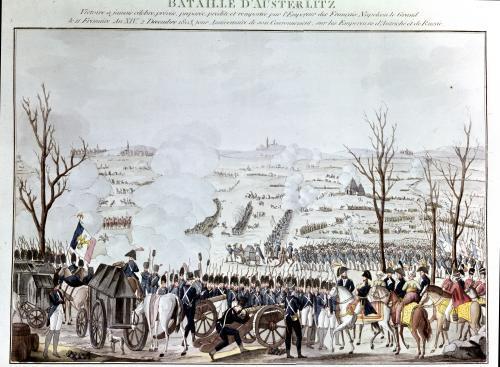 Battle of Austerlitz 1805 by French School