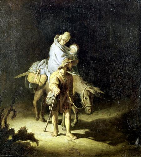 The Flight into Egypt by Gerrit Dou