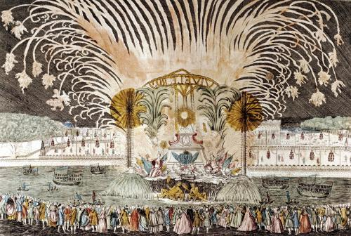 Firework Display in the Place Louis XV 1763 by French School