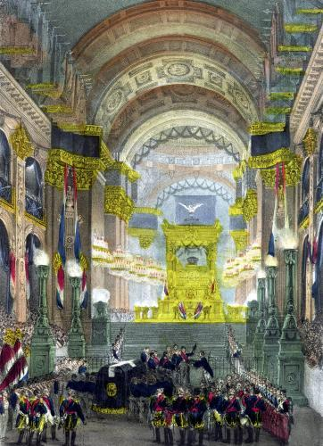 The Arrival of Napoleon's Ashes at L'Eglise des Invalides 1840 by French School