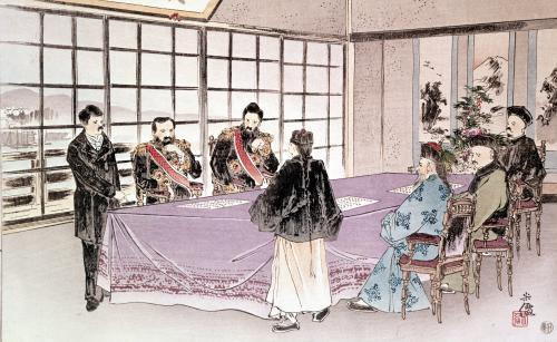 The Japanese ministers I-Tso and Mou-Tsou 1895 by China
