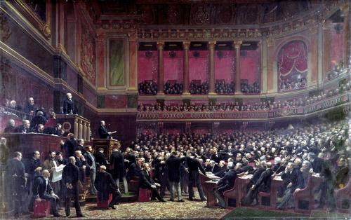 Louis Adolphe Thiers Acclaimed by the Deputies During a Meeting by Benjamin Ulmann