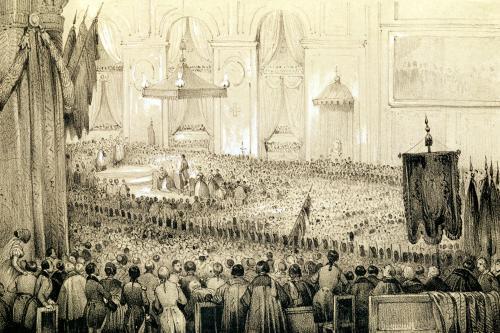 'The Re-establishment of the Cult' A Te Deum at Notre-Dame de Paris 1802 by Victor Adam