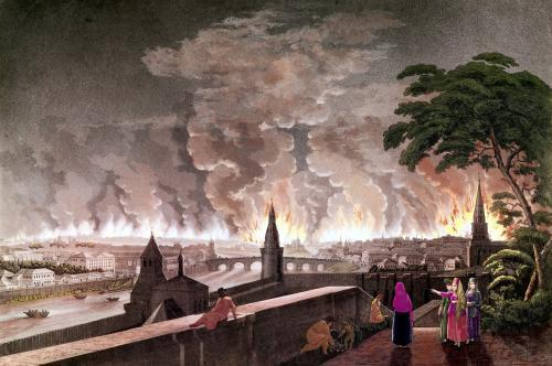 Fire in Moscow 1812 by Notoff