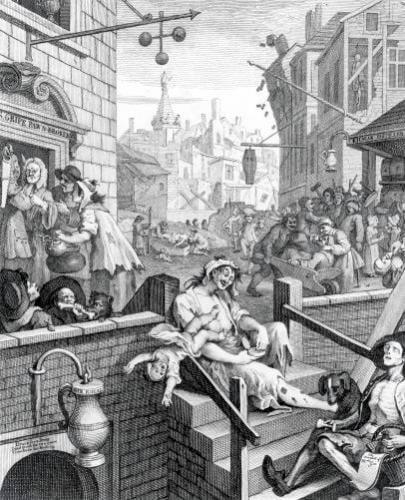 Gin Lane 1751 by William Hogarth