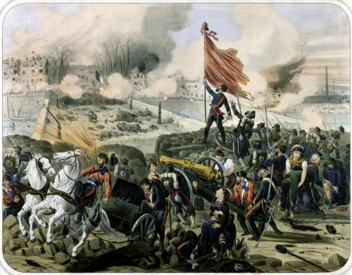 Attack at Pont de Neuilly and Courbevoie 1871 by French School