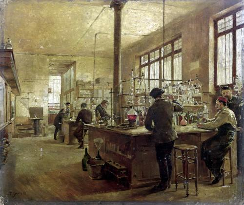 The Laboratory 1887 by Ferdinand Gueldry