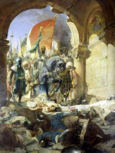 Entry of the Turks of Mohammed II into Constantinople 1876 by Jean Joseph Benjamin Constant