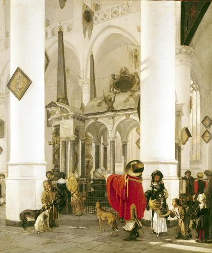 Interior of the Nieuwe Kerk Delft 1656 by Emanuel de Witte