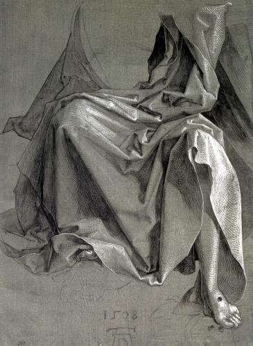 Study of the robes of Christ 1508 by Albrecht Dürer