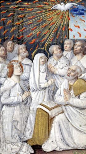 Pentecost from 'Heures a l'Usage de Rome' by French School