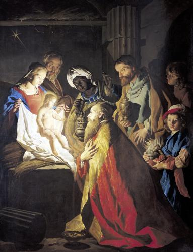 The Adoration of the Magi by Stom Matthias Stomer