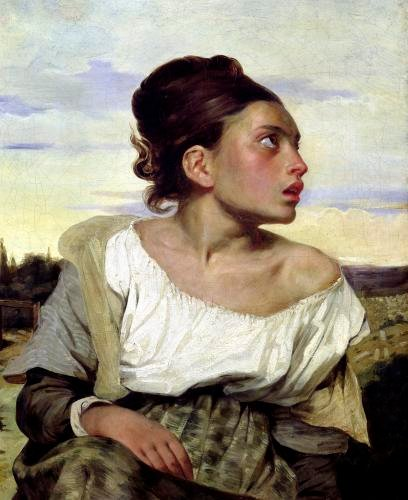 Young Orphan in the Cemetery 1824 by Ferdinand Victor Eugene Delacroix
