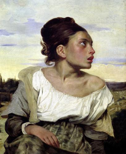 Young Orphan in the Cemetery 1824 by Eugene Delacroix