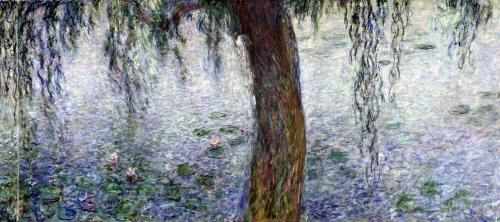 Waterlilies' Morning with Weeping Willows 1915 by Claude Monet