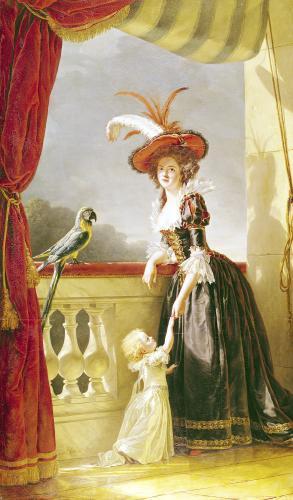 Portrait of Louise-Elisabeth de France Duchess of Parma 1786 by Adelaide Labille-Guiard