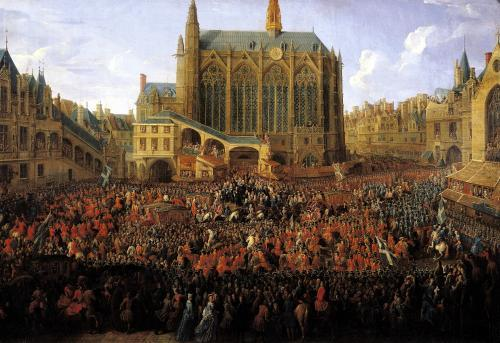 The Departure of Louis XV from Sainte-Chapelle 1735 by Pierre-Denis Martin