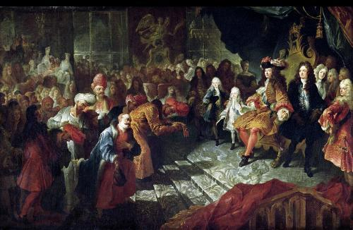 Louis XIV receiving the Persian Ambassador Mohammed Reza Beg 1715 by Antoine Coypel