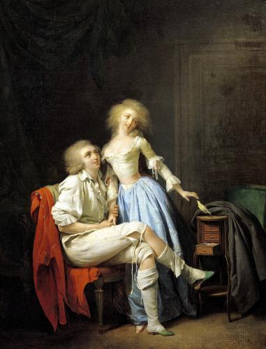 Couple with an Escaped Bird by Louis-Leopold Boilly