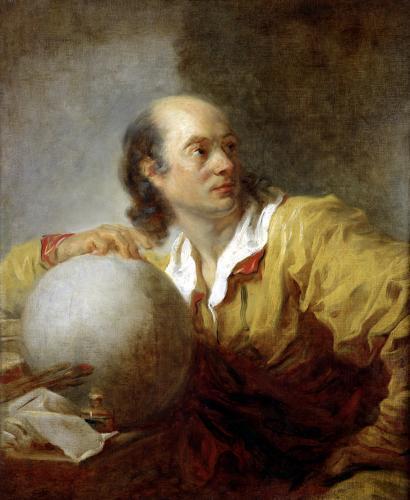 Joseph-Jerome Lefrancois Lalande by Jean-Honoré Fragonard
