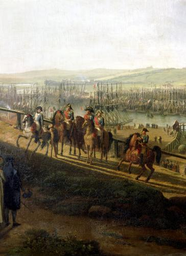 Napoleon Bonaparte Visiting the Camp at Boulogne in July 1804 by Jean-Francois Hue