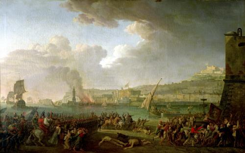 The French Army Entering Naples Under the Command of General Championnet by Jean Jacques Francois Taurel