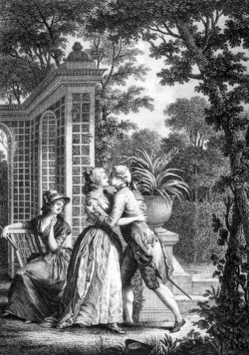 The First Kiss of Love by Nicolas Andre Monsiau