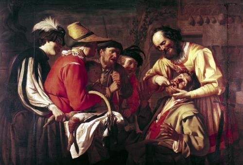 The Tooth Extractor by Gerrit van Honthorst