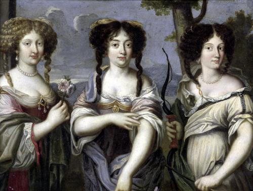 Portrait of the Three Nieces of Cardinal Mazarin by French School