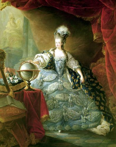 Portrait of Marie Antoinette Queen of France by Jacques-Fabien Gautier d'Agoty