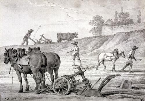 Ploughing the Fields by Jean-Baptiste Huet