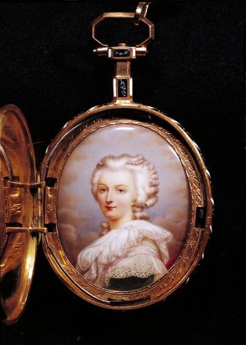 Portrait miniature of Marie-Antoinette by French School
