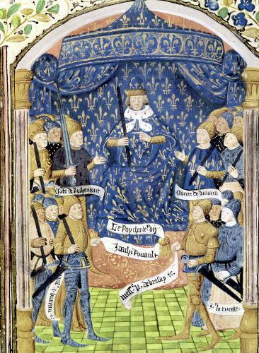Charles VII Surrounded by his Court and Joan of Arc by French School