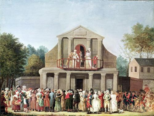 Theatrical Performance at the Saint-Laurent Fair 1786 by French School
