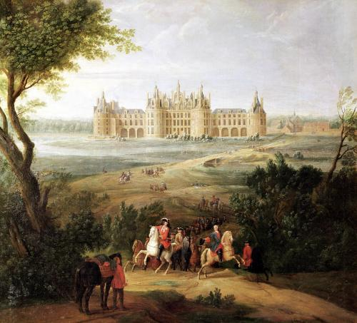 The Chateau de Chambord 1722 by Pierre-Denis Martin