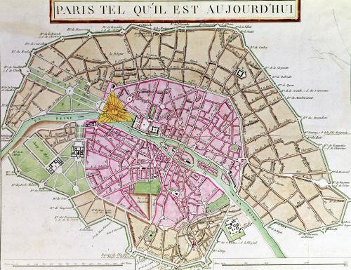 Map of Paris 1800 by French School