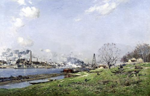 The Seine at Conflans-Charenton 1892 by Jean Baptiste-Antoine Guillemet