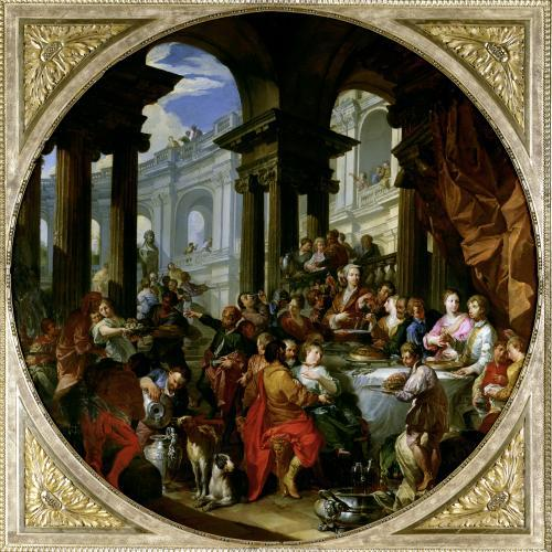 Feast under an Ionic Portico c.1720 by Giovanni Paolo Panini