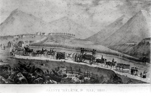 The Funeral Cortege of Napoleon Bonaparte at Saint Helena 1821 by Jean Joseph Benjamin Constant