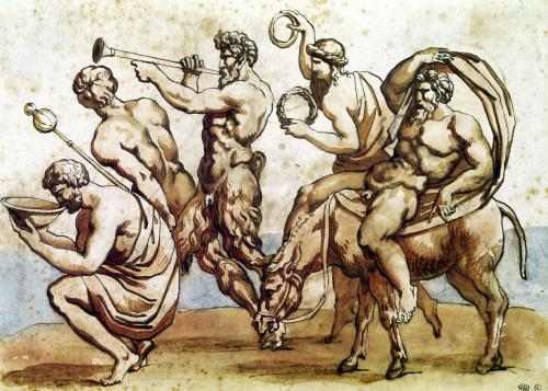 Bacchanal by Jean-Louis-André-Théodore Géricault