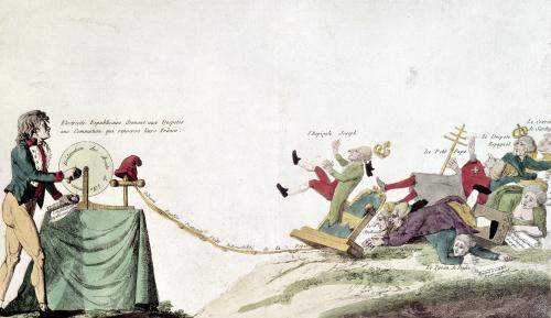 Revolutionary cartoon 1793 by French School