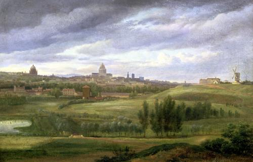 View of Paris from Butte aux Cailles Gentilly by Jean Baptiste Gabriel Langlace