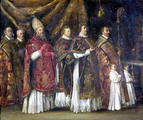 The Pontifical Mass by Antoine Le Nain