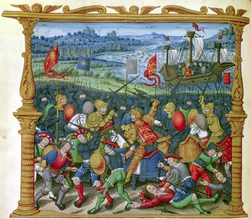 King Edward III Waging War at the Battle of Crecy in 1346 by French School