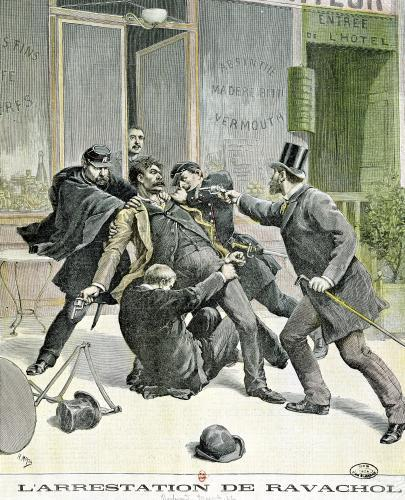 The Arrest of Ravachol front cover of 'Le Petit Journal' 1892 by French School