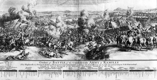 The Battle of Ramillies 1706 by French School