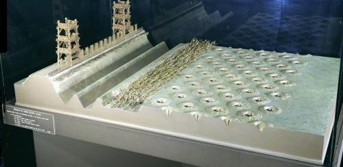 Model of Caesar's defences at Alesia by French School